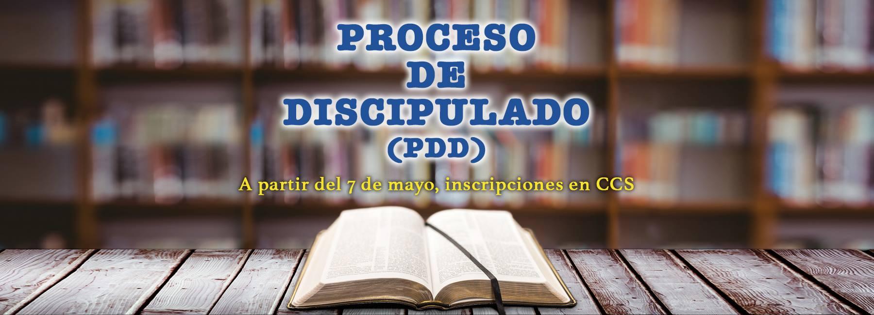 PROCESO DE DISCIPULADO (PDD)